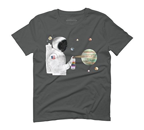 space graffiti 2 Men's Graphic T-Shirt - Design By Humans Anthracite