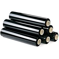6 Rollos Film estirable manual 23 micras NEGRO