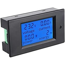 AC80-260V 100 LCD Digital de Detección Potencia Activa Voltímetro Probador Amperímetro Negro