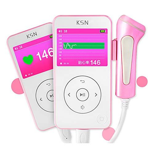 YLStorage Tragbare Tasche Schwangerschaft Fetal Doppler Heartbeat Detector Ultraschall Schwangere Baby Pulsmesser mit LCD-Display Nicht strahlend -
