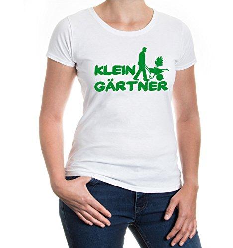 buXsbaum® Girlie T-Shirt Kleingärtner White-Green