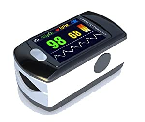 Contec Full-Colour OLED USB Finger Pulse Oximeter & Heart Rate Monitor