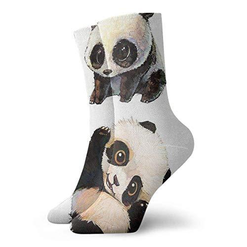 shizh Niedliche Panda Crew Socken Lässig Lustig Für Sportstiefel Wandern Laufen, 30 cm