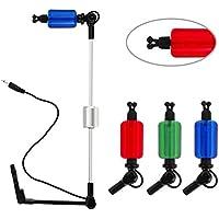 mounchain pesca Swinger Indicador 3unidades recto estilo LED iluminado perchas para alarma de Pique para pesca de carpas sistema
