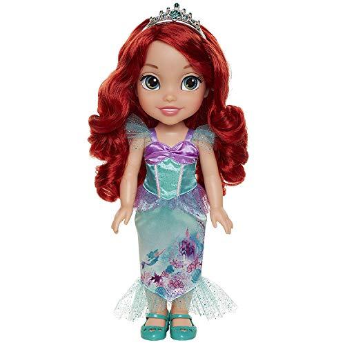 Jakks Pacific Disney Princesa Ariel 35 cm y Flounder con Set de Té pa