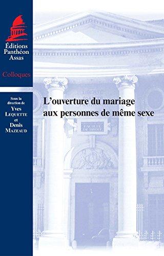 L'Ouverture du mariage aux personnes de même sexe