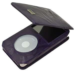 MTT Flip-Tasche für Apple iPod Classic Modelle - 30GB / 60GB / 80GB / 120GB / 160GB Video / in wash-dunkellila
