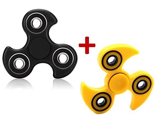 2-toupies-hand-spinner-1-noir-bec-1-jaune-bec-toupie-ninja-forme-shuriken-by-campus-telecomr