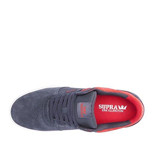 Supra Ellington, Sneakers basses homme Dark Grey Red White