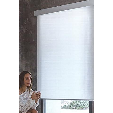 DECORACION NUEVO ESTILO-Estor enrollable PLaber en tejido translucido de color 4 blanco, medida 180 x 240 (varias medidas y