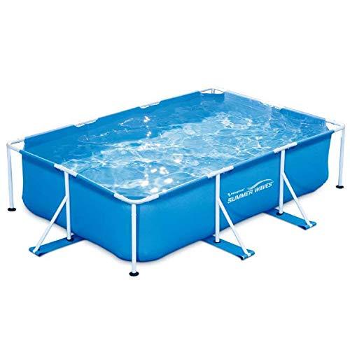 Summer Waves Piscine Tubulaire rectangulaire 3x2,01x0,75m, Bleu