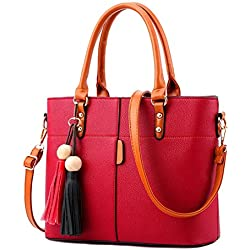 Shevanna Women's PU Leather Hand Bags (AB-49, Red)