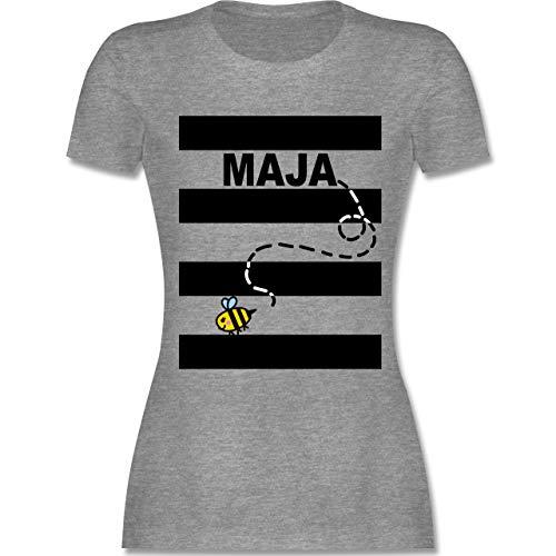- Bienen Kostüm Maja - L - Grau meliert - L191 - Damen Tshirt und Frauen T-Shirt ()