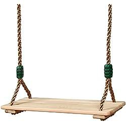 Bois balançoire à suspendre Arbre balançoire pour adultes enfants de haute qualité poli Four-board anti-corrosion Jeux de jardin extérieur/intérieur