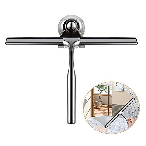 Ealicere Duschabzieher, Edelstahl Duschwischer, Fensterabzieher mit austauschbarem Wischblatt zur Badezimmer Fensterabzieher Fliesenwischer, für Badezimmer Spiegel Fenster Glasreinigung