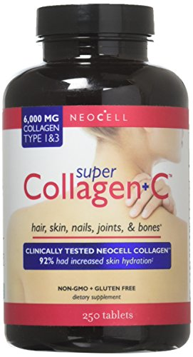Neocell | Super Collagen + Vitamin C | Typ 1 & 3 | 6.000 mg | 250 Tabletten | glutenfrei | lactosefrei