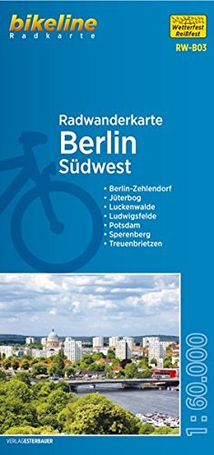 Berlin Southwest Cycling Tour Map 2016
