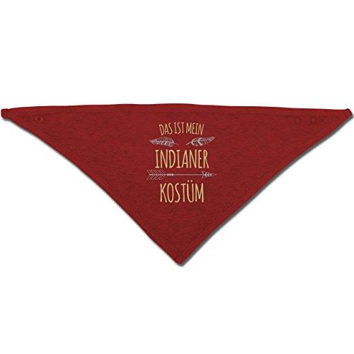 Anlässe Baby - Das ist mein Indianer Kostüm - Unisize - Rot - BZ23 - Baby-Halstuch als Geschenk-Idee für Mädchen und (Idee Indianer Kostüm)