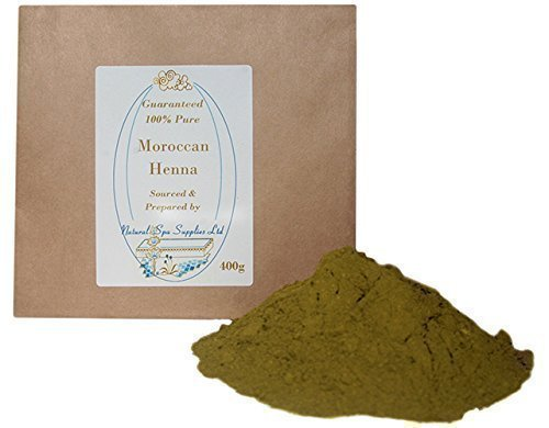 100% Pure Moroccan Henna Powder, 400g Natural Hair Dye