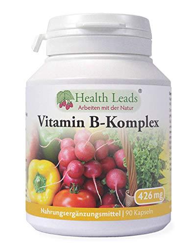Vitamin B Komplex x 90 Kapseln, Starke ausgewogene Formel, VEGAN, Enthält alle 8 B Vitamine B1, B2, B3 (Niacin), B5, B6, B12, Biotin & Folat, Magnesiumstearat frei, Formuliert & Hergestellt in Wales -