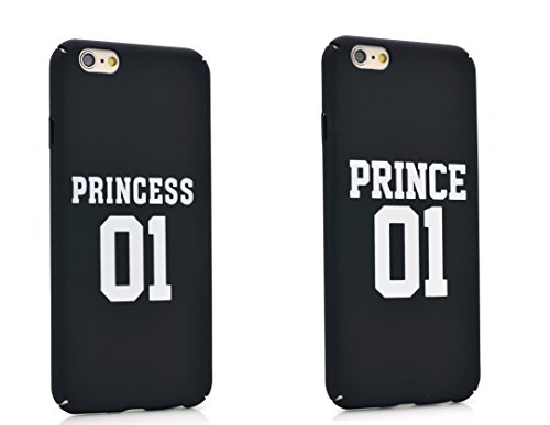 iProtect Schutzhülle Princess Apple iPhone 6, 6s Hardcase schwarz Prince u Princess Schwarz