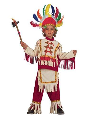 er Häuptling mit Feder-Kopfschmuck, Größe:92 (Baby Boy Cowboy-outfit)