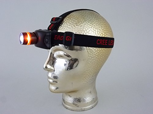 LED-Stirnleuchte Kopfleuchte Kopflampe Stirnlampe York schwarz mit Batterie (inklusive) Stirnlampe mit verstellbarer Neigung und 3 Lichtstufen