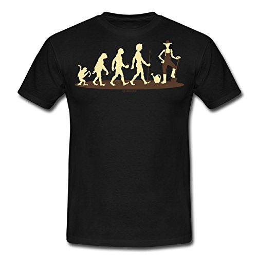Spreadshirt Evolution vom Affen Zum Garten Gott Schaufel Grüner Daumen Rahmenlos Geburtstag Geschenk Männer T-Shirt, 4XL, Schwarz (Schwarzer Gottes Affe)