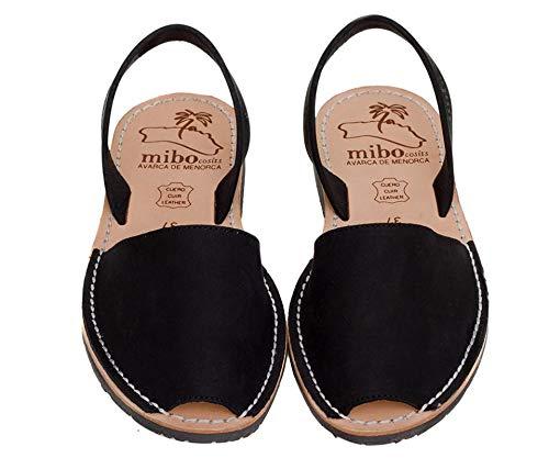 Authentic Avarca Menorquina Sandals Basic Nobuck Negro - Talla 37 EU