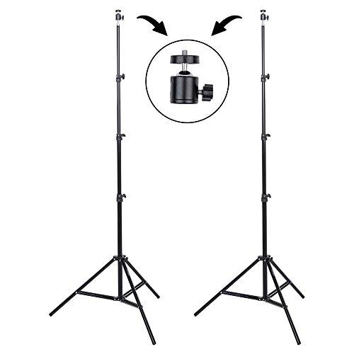 3 Monolight Kit (Interfit LS102Studio Essentials leicht-Set von 2-7'15,2cm Lichtstative mit Ball Heads & Tragetasche, schwarz)