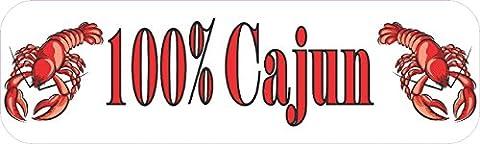 10in x 3in 100% Cajun Crawfish Bumper magnet Vinyl Car magnetic magnets by StickerTalk®