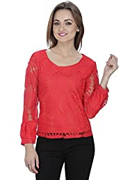 SVT ADA COLLECTIONS Poly NET RED Color Designer TOP (022301_Red_Medium)