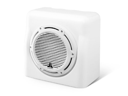 FS110-W5-CG-WH - JL Audio 10 4-Ohm Marine Enclosed White Subwoofer by JL Audio