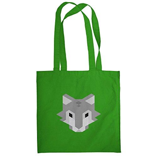 Texlab–Simple Wolf–sacchetto di stoffa Verde