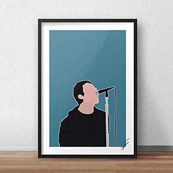 Liam Gallagher inspirierte Illustration.