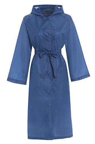 Hari Deals - Manteau imperméable - Trench - Femme Bleu
