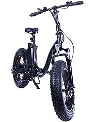 Vélo Electrique Tout Chemin Pliable Black Fat