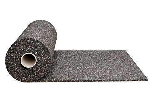 Gummimatte Anti-Vibrationsmatte Antirutschmatte 100 x 125 x 2 cm, schwarz (lfd. Gummimatte Meterware) (Bautenschutzmatte Gummigranulatmatte Kofferraummatte Bodenschutzmatte Bodenbelag Gummi)