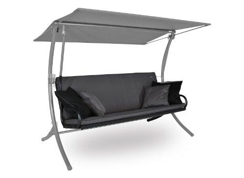 Angerer Royal Style Schaukelauflage Style, Grau/Hellgrau, 3-Sitzer