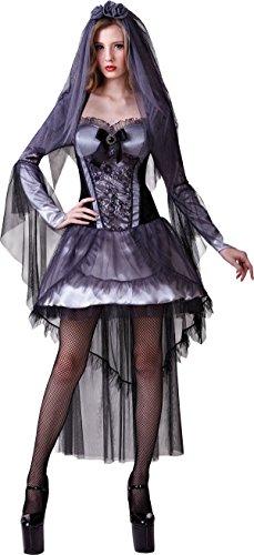 ie Leiche Kostüm Horror Party Dunkel Braut Hexe Kleid Outfit (Zombie Braut Halloween-kostüme Uk)