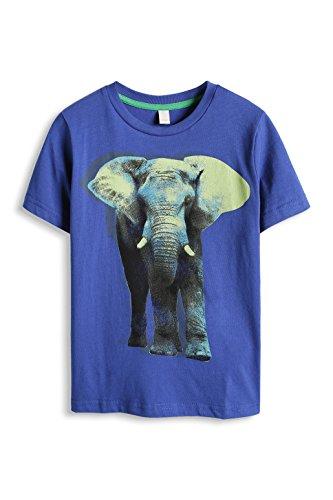 ESPRIT Jungen T-Shirt 065EE8K003, Animalprint, Gr. 128 (Herstellergröße: 128/134), Blau (BRIGHT BLUE 410)