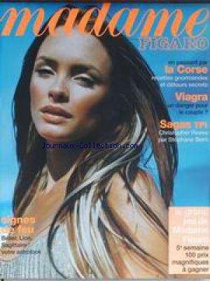 MADAME FIGARO [No 16796] du 14/08/1998 - LA CORSE - VIAGRA - SAGAS TF1 - CHRISTOPHER REEVE PAR ST. BERN.