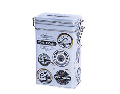 Rechteckige Kaffeedose im Vintage-Stil, Retro-Blechdose für die Küche,hermetisch abgedichtet,500g