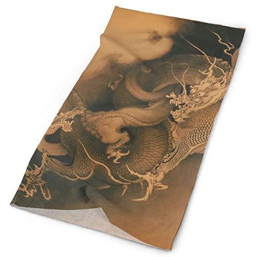 jingqi Japanese Two Dragons in Clouds Headband Bandana£¬Outdoor Multifunctional Headwear,Magic Scarf for Men Women 19.7x9.85inch(50x25cm) -