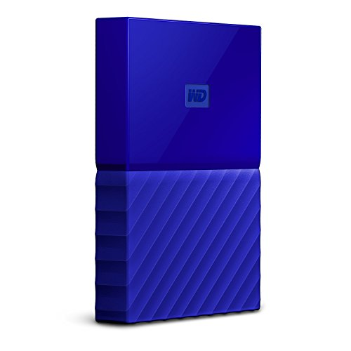 WD My Passport 3TB Portable External Hard Drive (Blue)