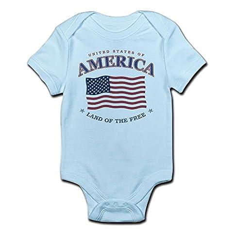 CafePress - 4Th July American Flag Baby Snap T-Shirt / Onesie - Cute Infant Bodysuit Baby Romper