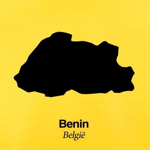 Benin / Republik Benin Silhouette - Herren T-Shirt - 13 Farben Gelb