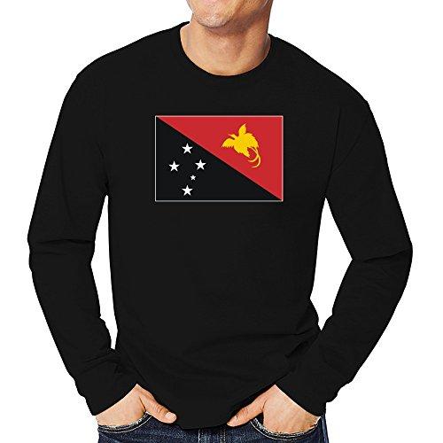 Teeburon Papua New Guinea Flag Long Sleeve T-Shirt -