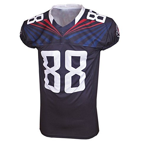 ACTIVE American rugby jersey formazione merci di colore nero V-collo gli appassionati di sport abbigliamento