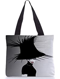 Snoogg Tote Bag 13.5 X 15 Inches Shopping Utility Tote Bag Made From Polyester Canvas - B01GCIMLZK